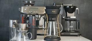Ganz schön aufgebrüht: Sechs Kaffeemaschinen im Test - DER SPIEGEL - Tests