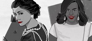 Powerfrauen und modische Vorbilder ganzer Generationen