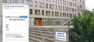 Stadt Weimar rückt Code für WLAN-Hotspot nicht heraus | MDR.DE