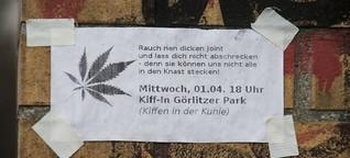 Kifferprotest in Berlin: Ein Zug für den Görli