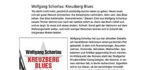 """Rezension von Wolfgang Schorlaus """"Kreuzberg Blues"""""""