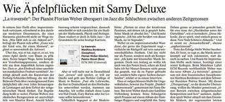 """""""Wie Äpfelpflücken mit Samy Deluxe"""": Porträt des Jazzpianisten Florian Weber"""