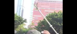 Nein, in Hongkong wurde kein 5G-Mast wegen Coronavirus zerstört - das Video entstand vor der Pandemie