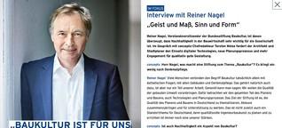 Baukultur und Nachhaltigkeit - Interview mit Reiner Nagel