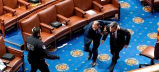 Sie beteten, sie rannten, sie twitterten - so erlebten Abgeordnete den Sturm aufs Kapitol