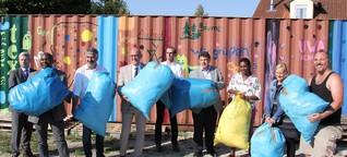 Im bunten Container von Aichach nach Afrika