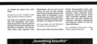 """Something beautiful"" - Raritäten aus der Musicalwelt"
