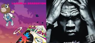 """Kanye Wests """"Graduation"""" und """"Curtis"""" von 50 Cent werden zwölf Jahre alt."""