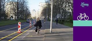 Fahrradwege durch Corona
