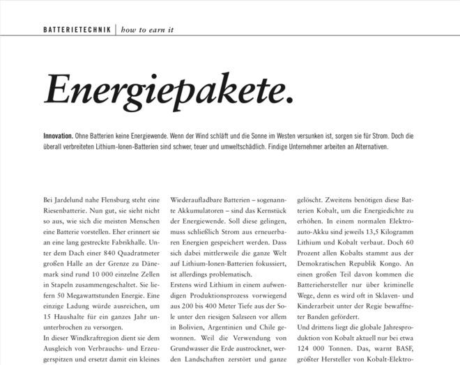 Energiepakete