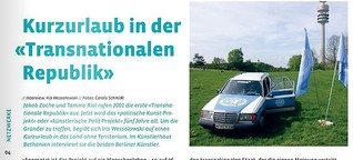 "Kurzurlaub in der ""Transnationalen Republik"" Magazin eigenart #1/2006"