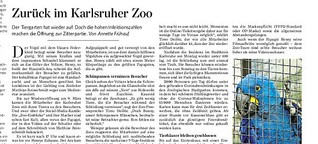 Zurück im Karlsruher Zoo