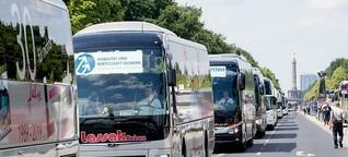 Scheuer verspricht Busbetrieben 170 Millionen Euro - Sperrungen in ganz Berlin