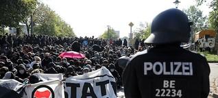 150 Festnahmen, 36 verletzte Polizisten - so lief der Demosamstag in Berlin