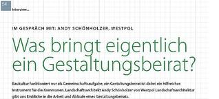 Andy Schönholzer über den Gestaltungsbeirat