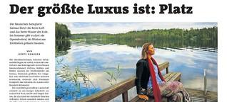 Finnlands größter Luxus: Platz!