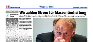 Jürgen Trittin Bundestagswahl 2013