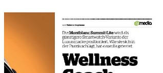Montblanc Summit Lite: Smartwatch im Test