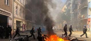 So eskalierte der Protest in der Rigaer Straße