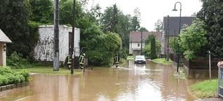 Wieder Schäden nach Gewittern mit Starkregen in Sachsen