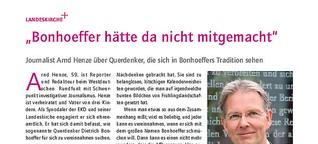 """""""Bonhoeffer hätte da nicht mitgemacht"""""""