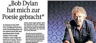 """BAP-Chef Wolfgang Niedecken: """"Bob Dylan hat mich zur Poesie gebracht"""""""