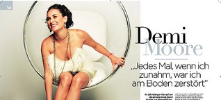 """""""Wenn ich zunahm, war ich am Boden zerstört"""" Demi Moore Exklusivinterview"""