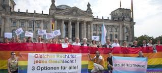 Petition für sexuelle Selbstbestimmung: Gleiches Recht für jedes Geschlecht