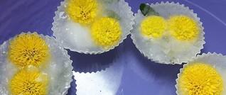 Muttertags-Überraschungen:  Eisblüten und Eiswürfel zur Deko