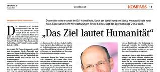 Otmar Weiss: Humanität als Ziel