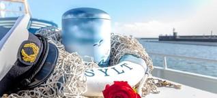Seebestattungen auf Sylt: Nur rund die Hälfte der in der Nordsee Bestatteten sind Insulaner   shz.de