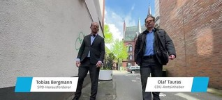 Streit-Spaziergang mit den OB-Kandidaten durch Neumünster