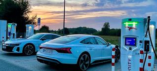 Ladekurve - Audi e-tron GT quattro (5 auf 100 Prozent) - Saving-Volt